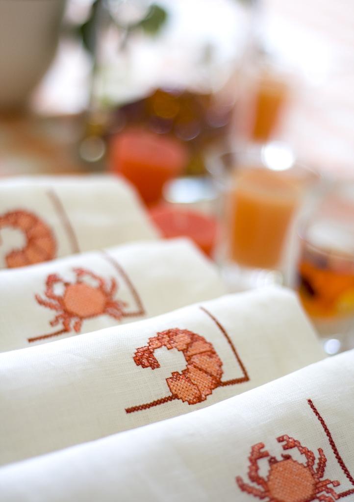 frutti di mare krewetki langusty kraby dekoracja stołu