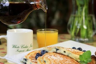 White Cedar Inn blueberry pancakes