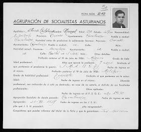 Manuel Alberdi Castellanos UGT PSOE minero teniente de infantería exílio