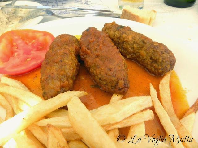 keftedes del ristorante Maxim a Lixouri, isola di Cefalonia