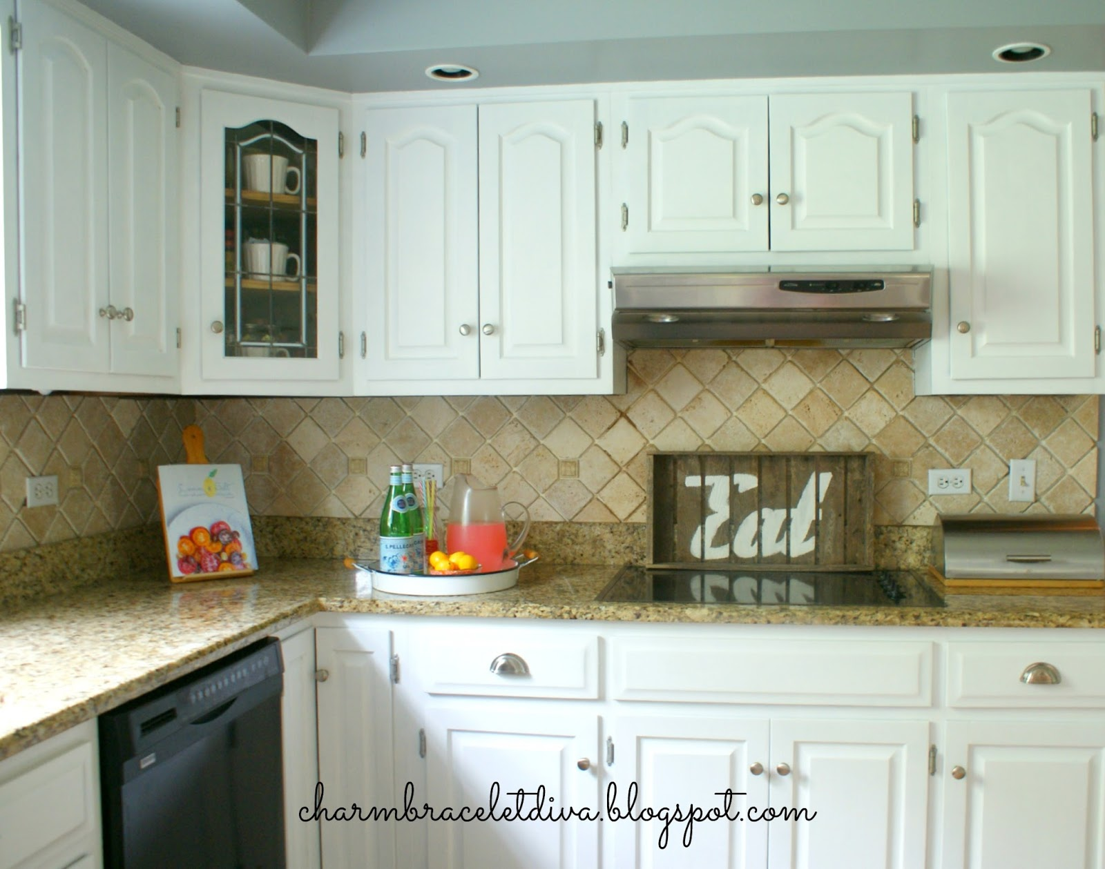 Diy Painting Kitchen Cabinets Antique White Our Hopeful Home Diy White Modern Farmhouse Painted