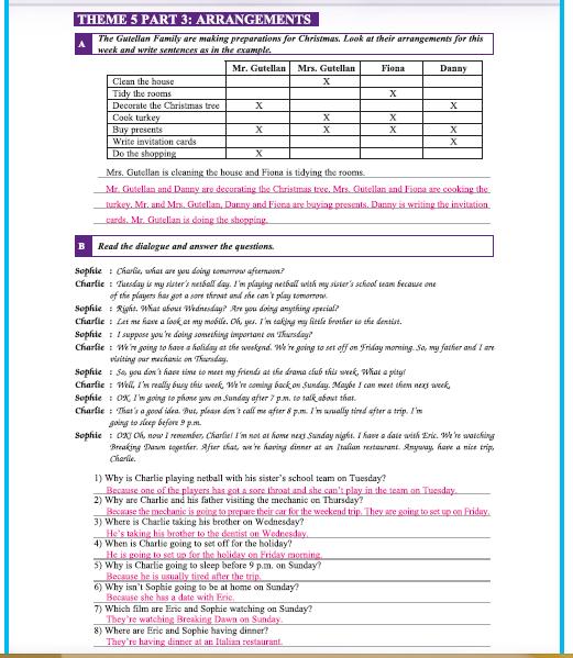 9. Sınıf Yıldırım Yayınları İngilizce A1.1 Çalışma Kitabı 42. Sayfa Cevapları Theme 5 Dreams and Plans