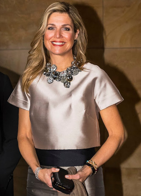 Queen Maxima of the Netherlands businesswoman Vivienne Eijkelenborg and Dutch politician Annemarie Jorritsma attend the 35th edition of the Prix Veuve Clicquot Businesswoman, diamond, earrings, baracelet, diamond rings, newmyroyals, new my royals, newmy royals