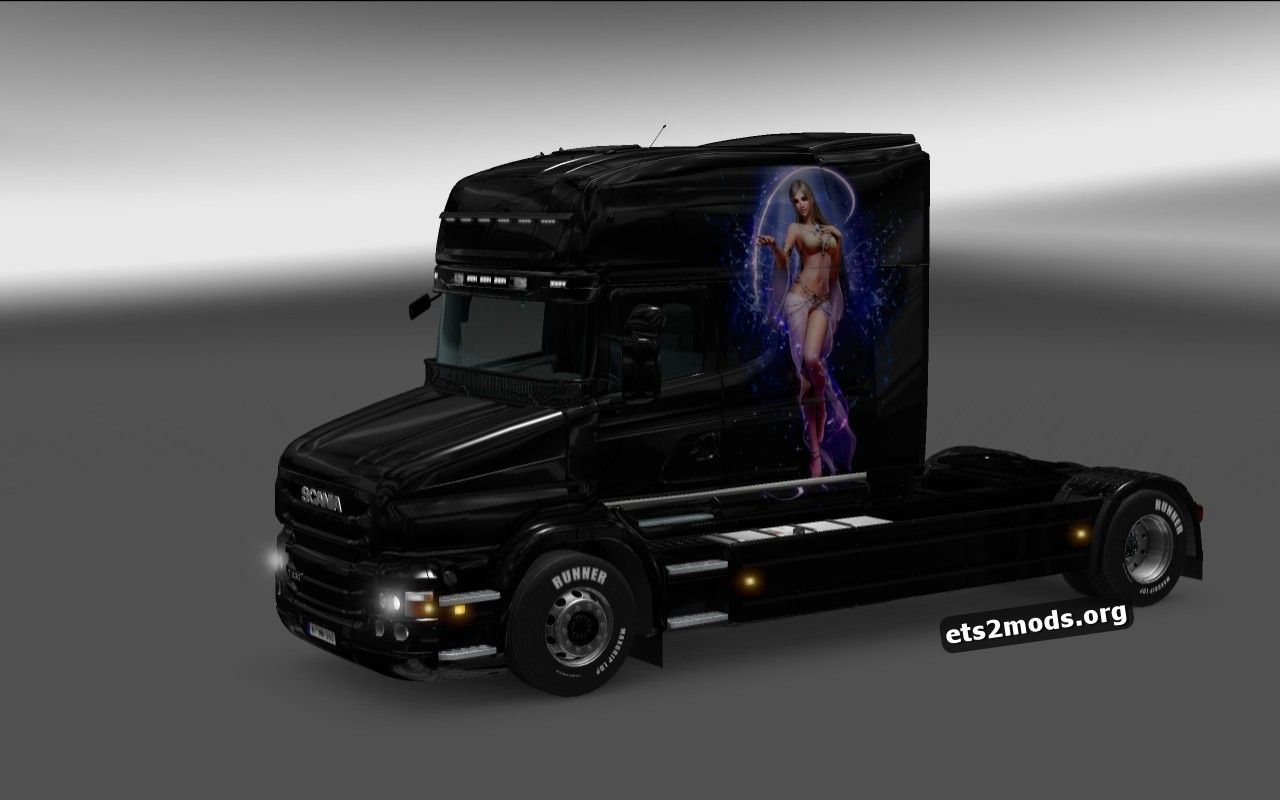 Girl Skin for Scania T Longline Cab