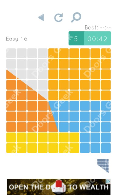 Cheats, Walkthrough for Blocks and Shapes Level 16
