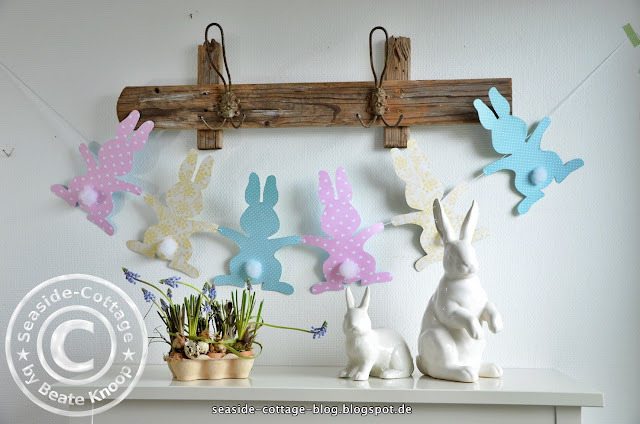 Seaside-Cottage Osterhase DIY