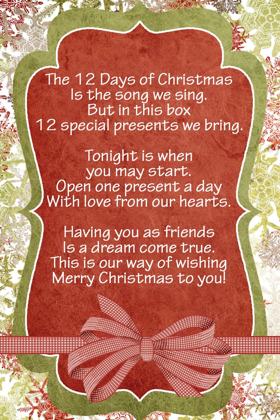 Lds Handouts 12 Days Nativity