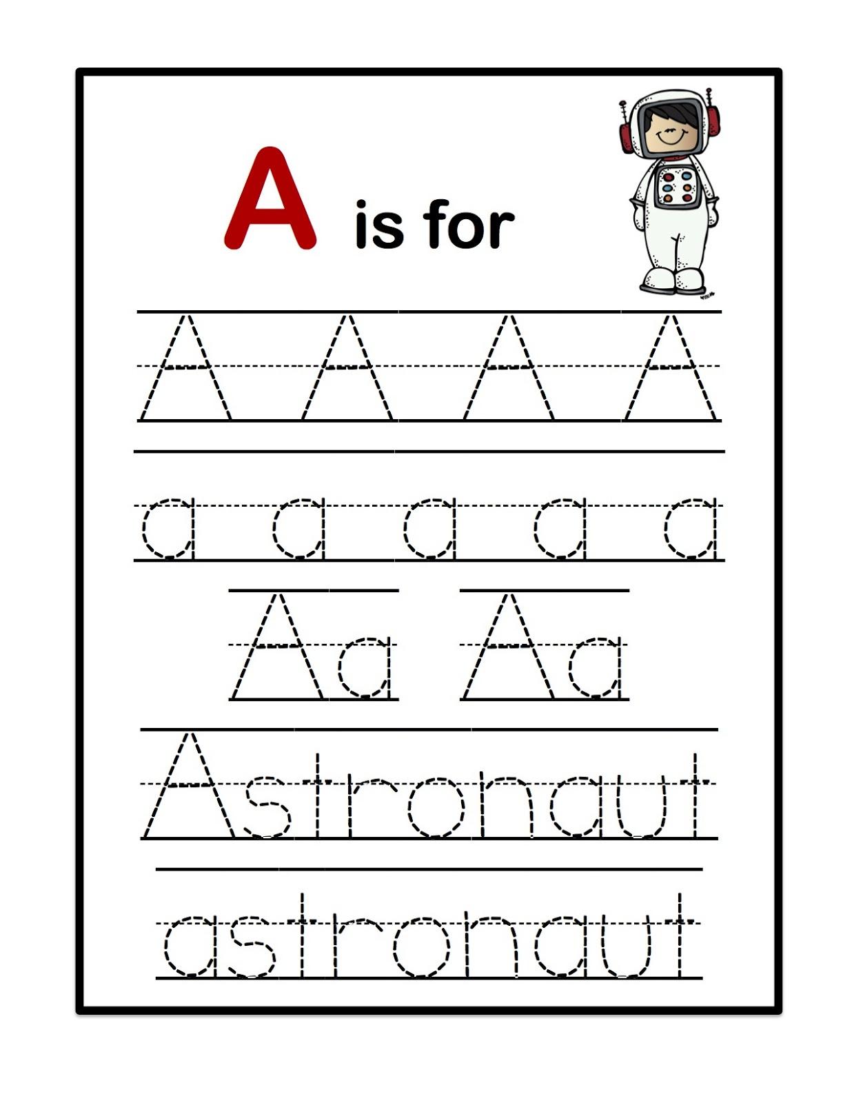 Astronaut Worksheet Free Printable