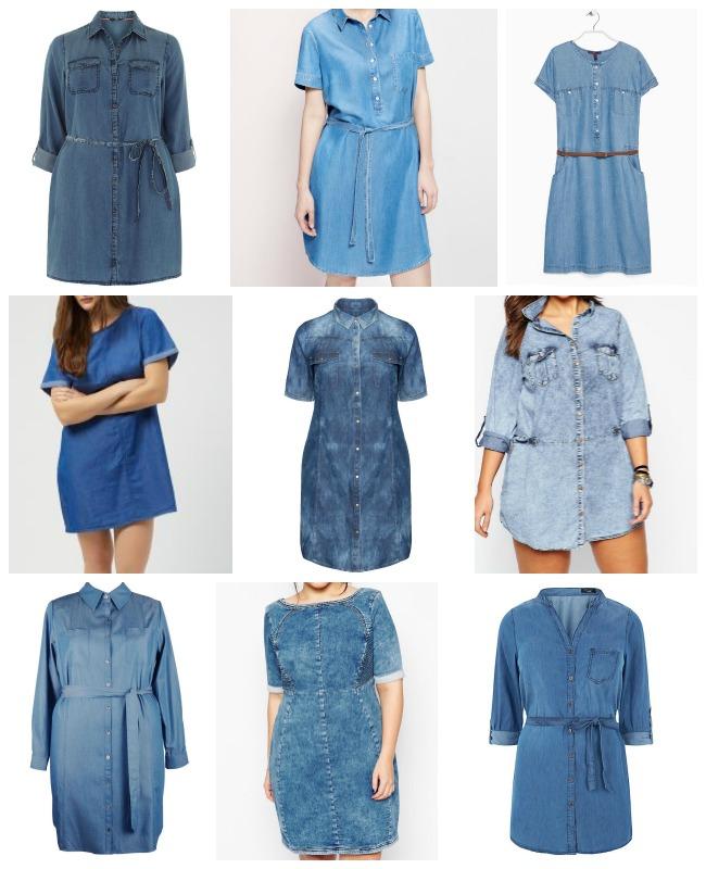 Want! Camicia abito in denim  a4ac6b0ced4