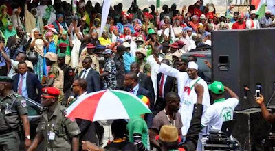 PHOTOS:PRESIDENT JONATHAN'S CAMPAIGN RALLY IN ZAMFARA STATE.