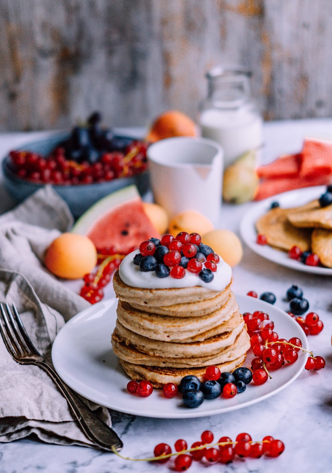 Healthy Wholewheat Pancakes. Need more recipes? 20 Tasty And Nourishing, Yet Quick Vegan Breakfast Recipes Ideas vegan breakfast healthy | breakfast vegan recipes | healthy vegan breakfast weightloss | easy vegan breakfast | breakfast recipes vegan #breakfast #vegan #veganideas #tasty