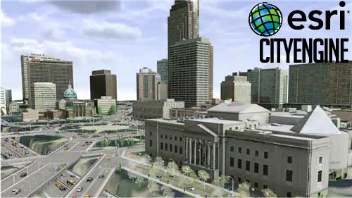 Geographic Information System: Esri City Engine Advanced 2014 Full