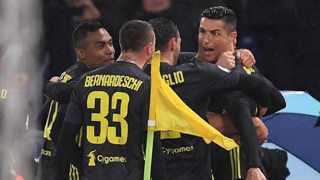 Hasil Lazio vs Juventus: Penalti Ronaldo Menangkan Bianconeri
