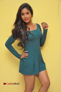 Telugu Actress Prasanthi Stills in Green Short Dress at Swachh Hyderabad Cricket Press Meet  0013.JPG