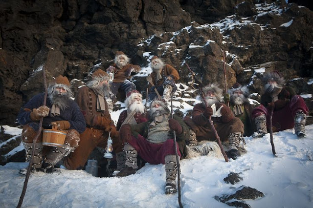 13 Icelandic guys dressed as the Yule Lads