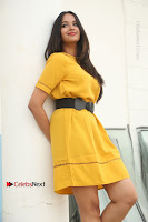 Actress Poojitha Stills in Yellow Short Dress at Darshakudu Movie Teaser Launch .COM 0106.JPG