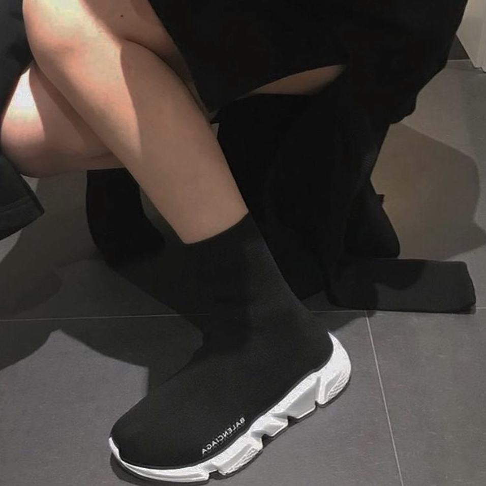3c8755734bce G-Dragon wearing Balenciaga Speed Trainer on Paris Fashion Week to see  Vetement s Show.