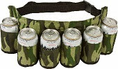 Image: Redneck Beer and Soda Can Holster Belt, Camouflage design