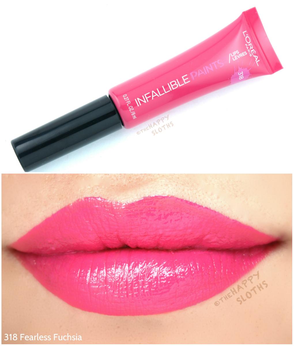 L'Oreal Infallible Lip Paints 318 Fearless Fuchsia