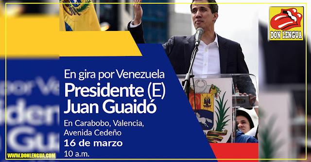 Juan Guaidó comienza hoy su gira nacional en Carabobo
