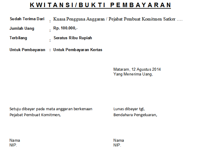 Download Kwitansi Sederhana File Excel Yook Download Contoh