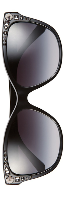 Versace 56mm Retro Sunglasses Black
