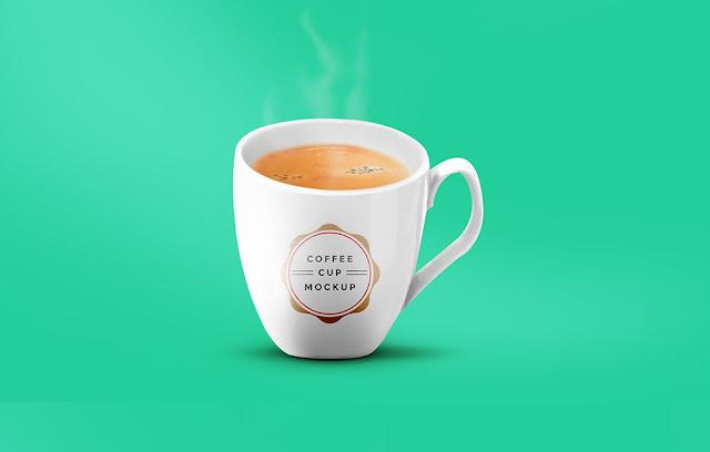 Taza de café en formato PSD