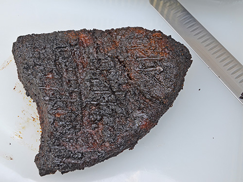 How to make brisket burnt ends on a kamado grill.