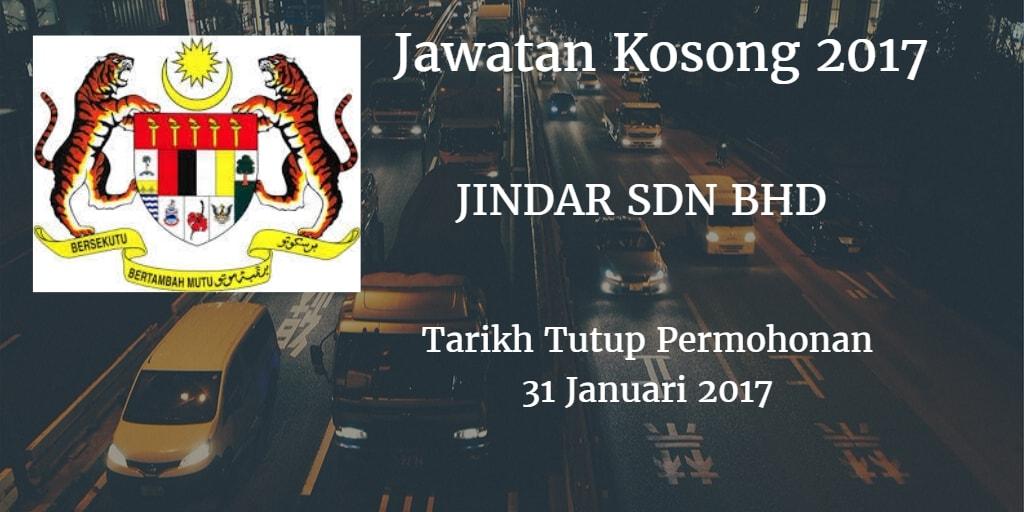 Jawatan Kosong JINDAR SDN BHD 31 Januari 2017