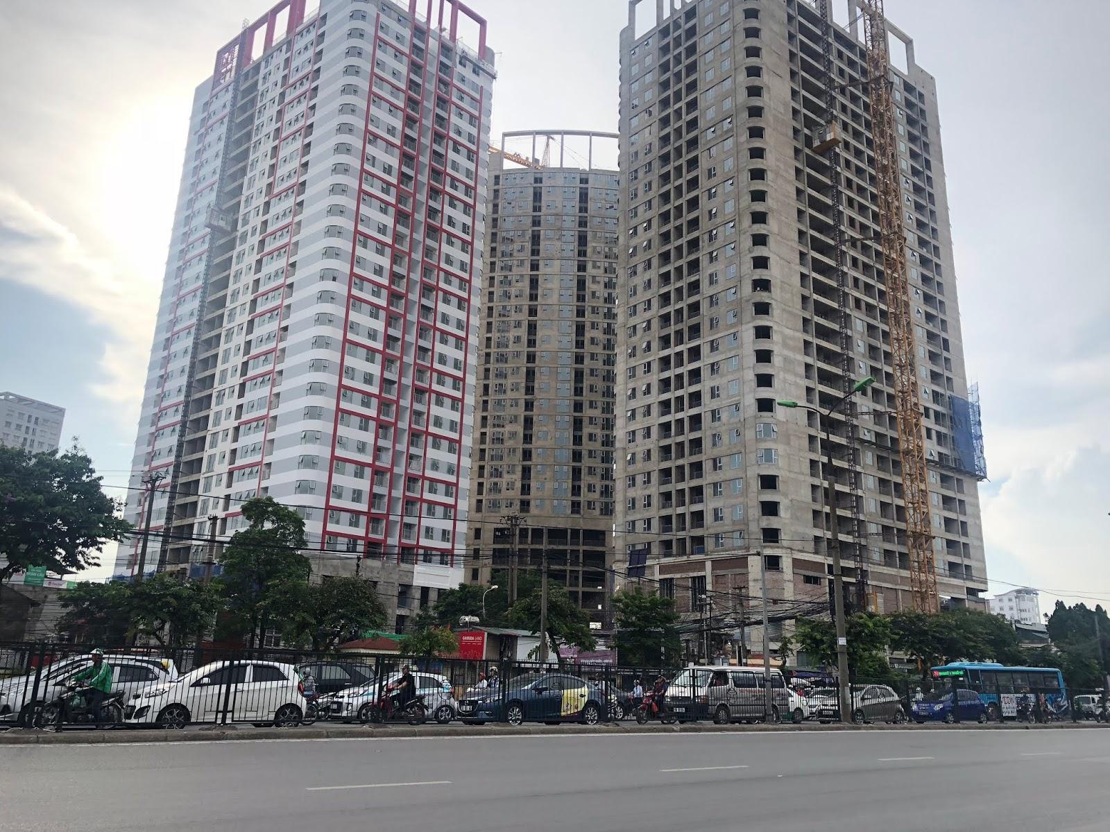 Hình ảnh tiến độ chung cư Imperial Plaza tháng 6/2018