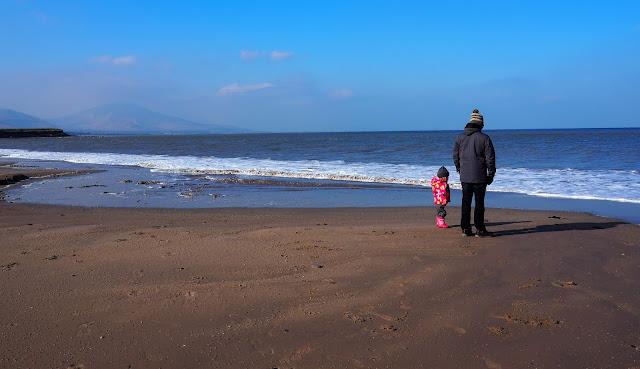 Kerry, Ireland, ranta, Isä ja tytär, Nokian saappaat