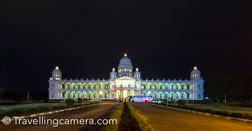 Dinner for the day was planned at Lalitha Mahal, Mysore.The Lalitha Mahal is the second largest palace in Mysore and now a hotel. The property is located near the Chamundi Hills.