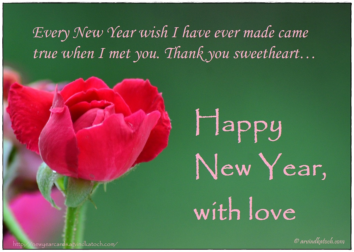 red rose happy new year card for your love every new year wish