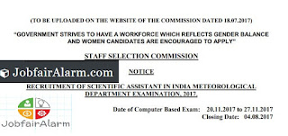 SSC Recruitment 2017 – Apply Online for 1102 Scientific Assistant Posts