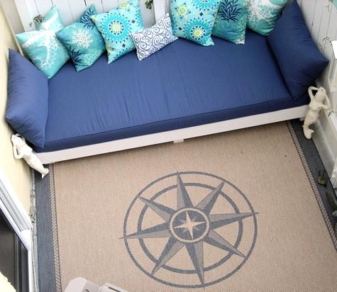 compass rose rug idea