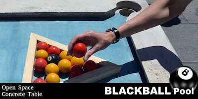 concrete blackball pool table