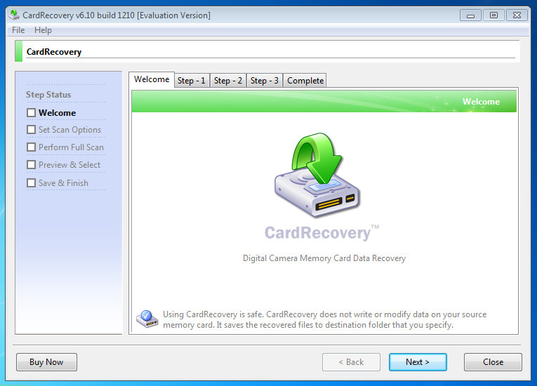 Camera Card Recovery Software Free
