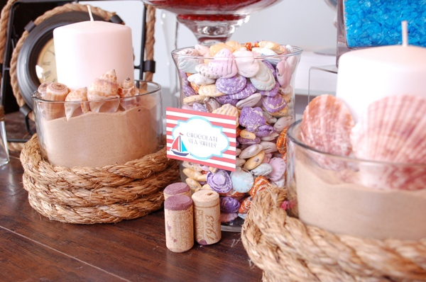 How to Style a Nautical Candy Buffet - via BirdsParty.com