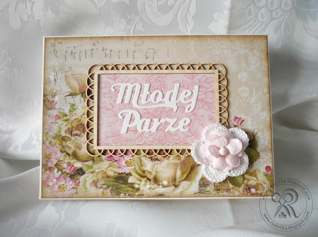 opakowanie na kartkę ślubną