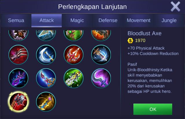 item bloodlust axe mobile legends bang bangs