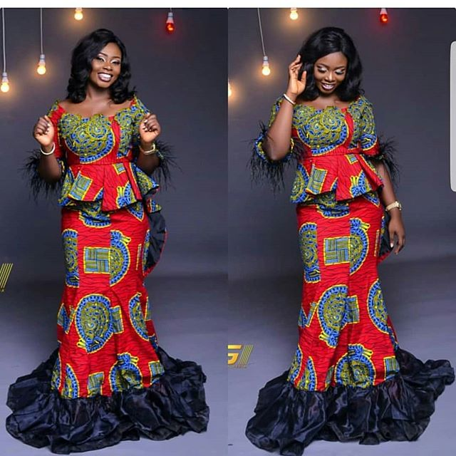 ankara skirt and blouse style and design for wedding, native ankara skirt and blouse design, beautiful trending ankara skirt and blouse for wedding, ankara skirt and blouse styles for asoebi, asoebi ankara skirt and blouse, Beautiful Ankara Skirt And Blouse Styles 2018