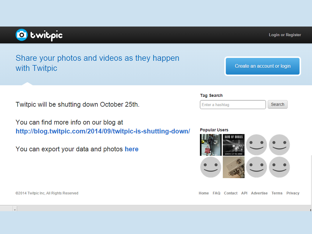 Twitpic To Shut Down on September 25th. Backup Your Pictures Now.