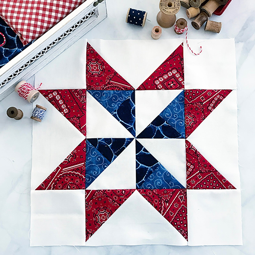 Pinwheel Star Block Free Quilt Tutorial