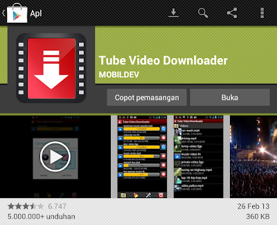 cara download video dari android
