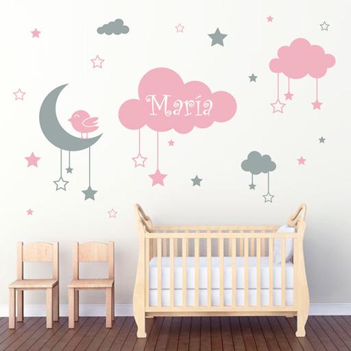 Vinilos baratos c mo decorar una habitaci n infantil barato for Vinilo habitacion nina