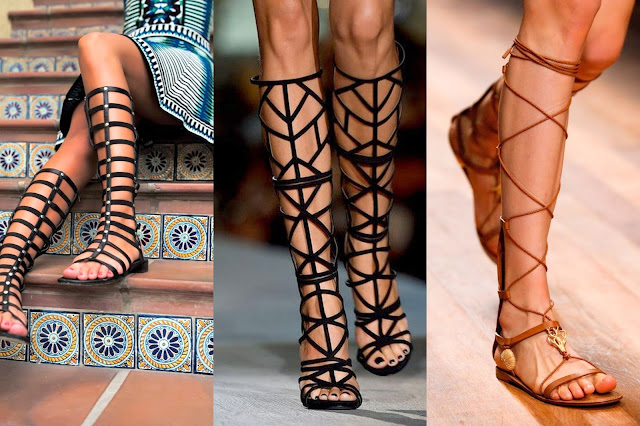 gladyator sandalet kombinleri