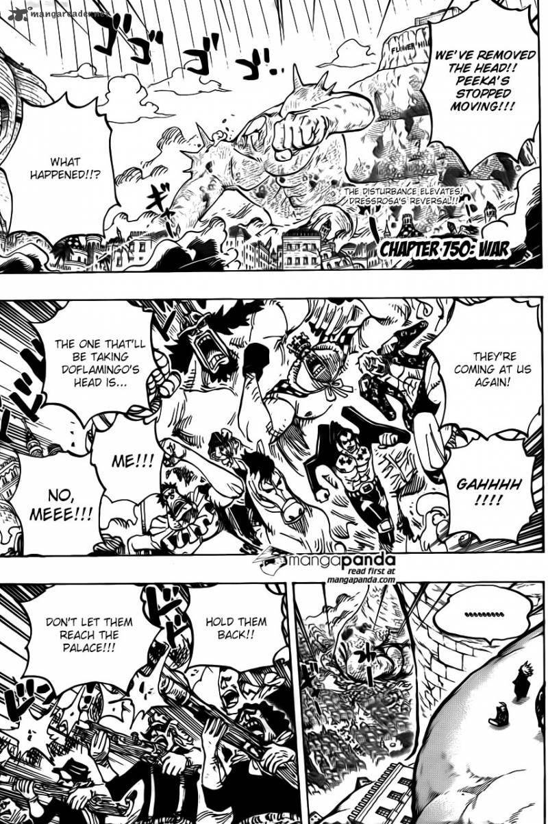 One Piece Ch 750: Aspects of Battle
