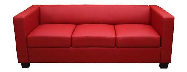 Sofá de 3 piezas rojo