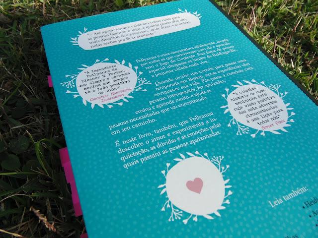contracapa do livro Pollyanna Moça  escrito por Eleanor H. Porter