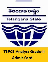TSPCB Analyst Grade-II Admit Card